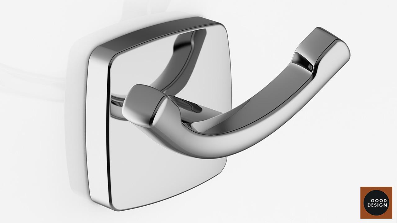 Design of the towel hook for AM PM brand. Good Design Award winner.