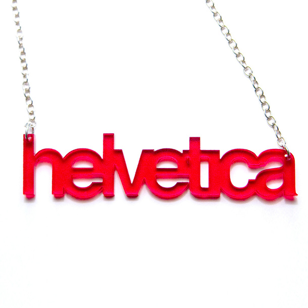 Helvetica Necklace